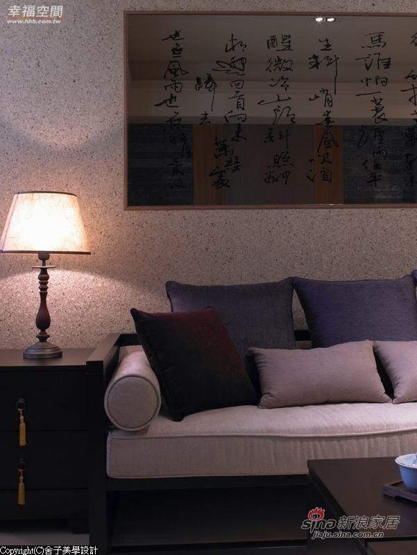 中式 二居 客厅图片来自幸福空间在【高清】108.9平刻画现代中式禅意居69的分享