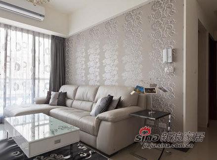 简约 二居 客厅图片来自用户2738813661在52平米白净素雅成现代简约风格婚房86的分享