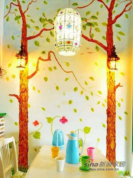 简约 二居 餐厅图片来自佰辰生活装饰在13万装85平色彩斑斓童话家23的分享