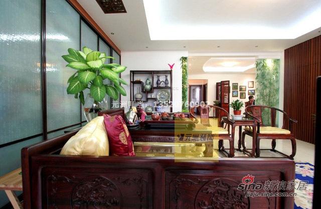 中式 三居 客厅图片来自用户1907658205在22万精装135平古色古香中式三居58的分享