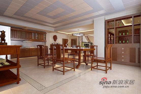 中式 别墅 餐厅图片来自用户1907658205在23W打造225平米中式情节的东方意境97的分享