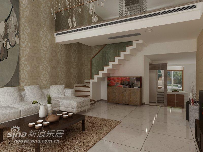 简约 复式 客厅图片来自用户2738829145在180平米复式平凡彰显品质57的分享