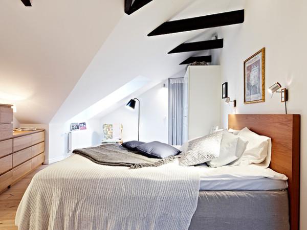 阁楼的感觉的卧室 是很多年轻人的首选。是不是有打动您的地方呢?