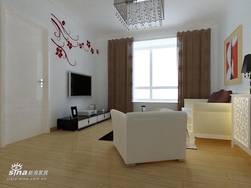 简约 二居 客厅图片来自用户2739081033在旭辉奥都现代简约设计49的分享
