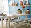 地中海风格实木仿旧餐桌 地中海实木书桌 多功能桌椅