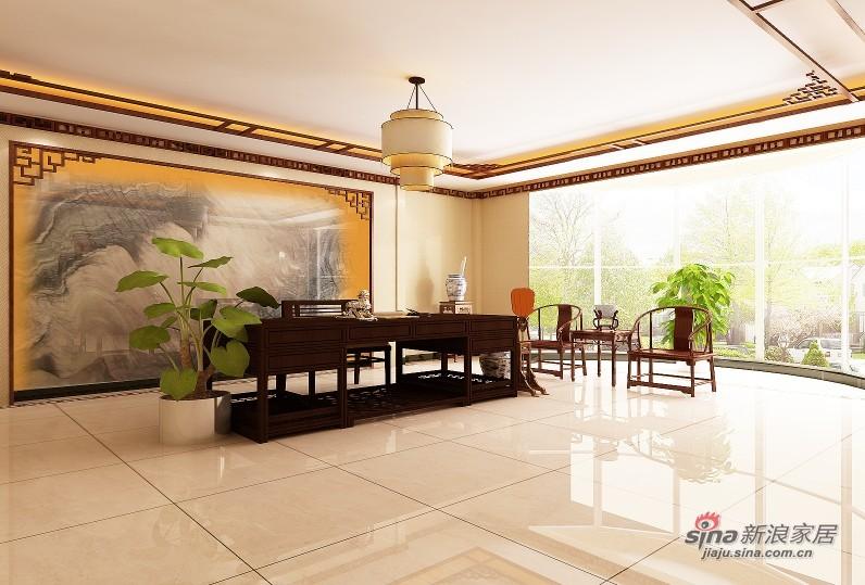 中式 别墅 书房图片来自用户1907661335在【高清】380平成功企业家的别墅37的分享