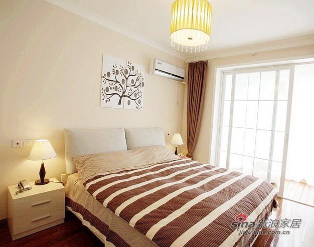 混搭 二居 卧室图片来自用户1907655435在79平小资女的现代创意生活88的分享