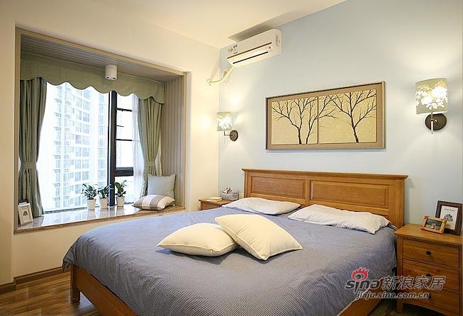 北欧 二居 卧室图片来自佰辰生活装饰在85平原木清新北欧风格唯美家99的分享