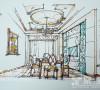 餐厅手绘稿