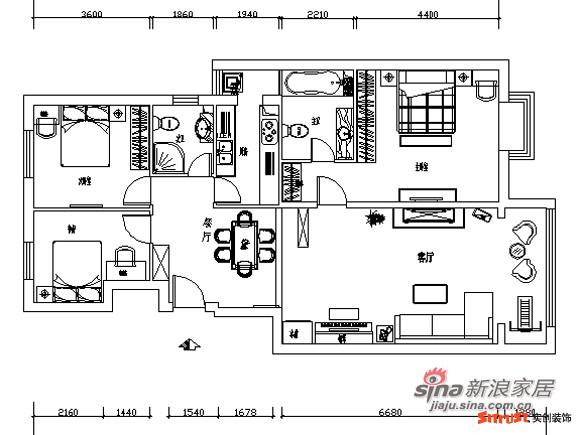 8万打造120平米精美3居室
