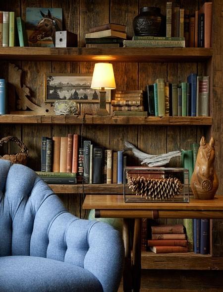 复古风格书房,喜欢的配色