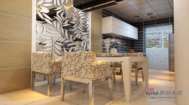 简约 二居 餐厅图片来自用户2738813661在5.8万打造明光翡翠湾112平现代简约两居室55的分享