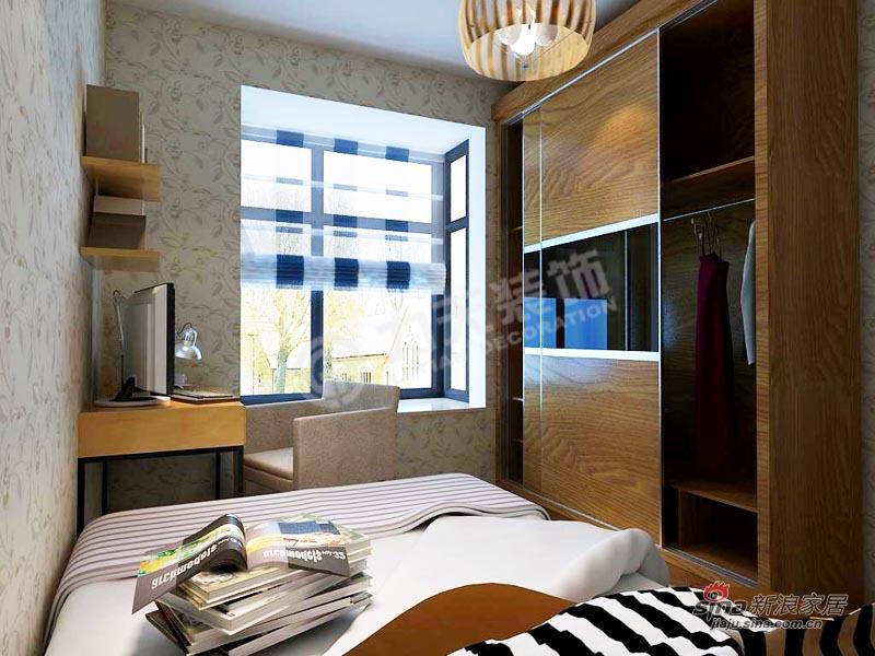 简约 三居 卧室图片来自阳光力天装饰在香水湾-三室二厅二卫一厨-现代简约60的分享