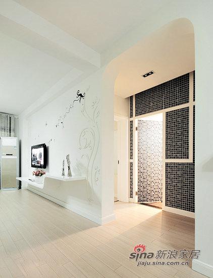 简约 三居 餐厅图片来自佰辰生活装饰在87平黑白色搭现代时尚靓家30的分享