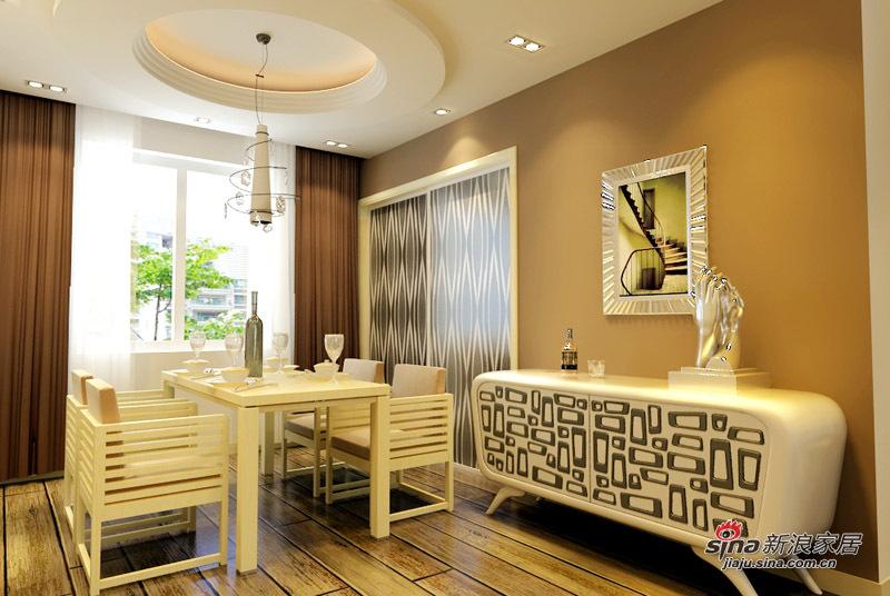 简约 二居 餐厅图片来自用户2738093703在5.5万铸造现代简约两居室74的分享
