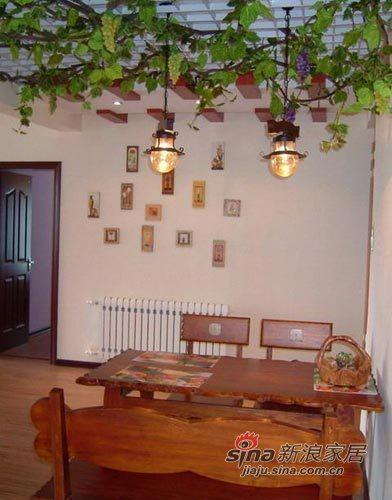 田园 二居 客厅图片来自用户2737791853在5万打造70㎡温馨横溢的田园小家21的分享