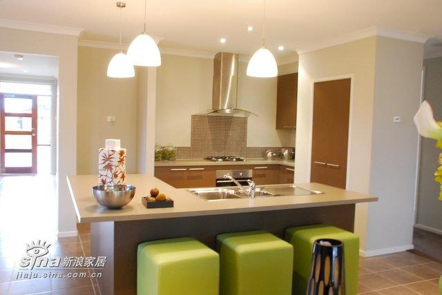 简约 别墅 厨房图片来自用户2738820801在装饰以绿色为主,很清新25的分享