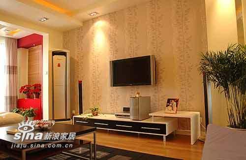 简约 二居 客厅图片来自用户2737782783在木质与黑白完美交织73的分享