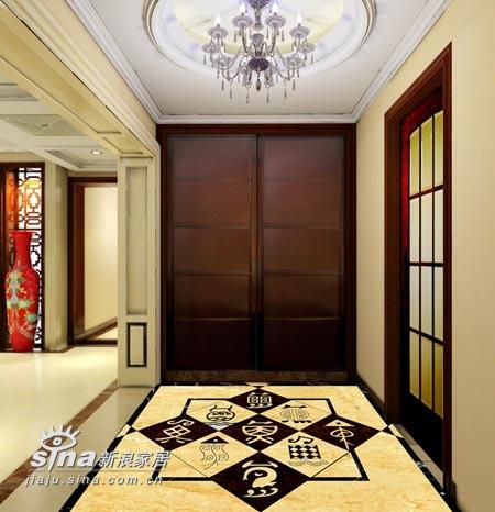 中式 三居 玄关图片来自wulijuan_16在新中式设计案例75的分享