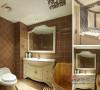 独具特色的环保浴缸,搭配铺上的浅咖啡色的