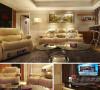 裸色真皮革沙发传递温暖感觉