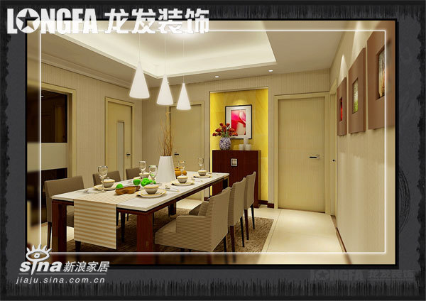 简约 三居 餐厅图片来自用户2739378857在一种风格 一种心情43的分享
