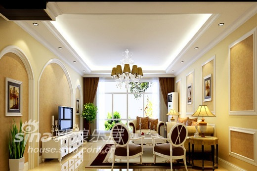 欧式 三居 客厅图片来自用户2746953981在简约欧式73的分享