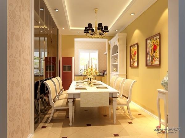 简约 三居 餐厅图片来自用户2738820801在16万装150㎡简约温馨3居室20的分享