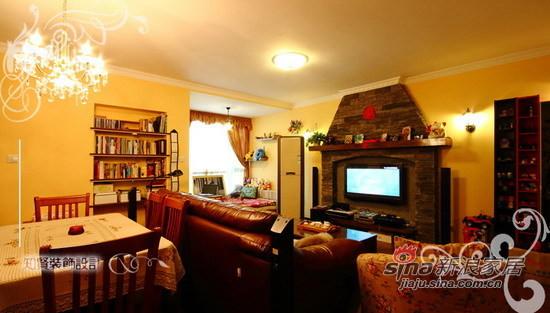混搭 二居 客厅图片来自用户1907691673在72坪美式田园混搭风小居室64的分享