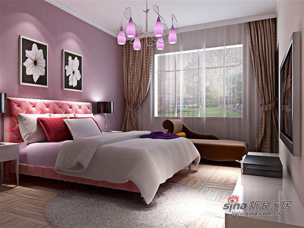 田园 二居 卧室图片来自用户2737946093在8.5万省钱装修105平二居25的分享