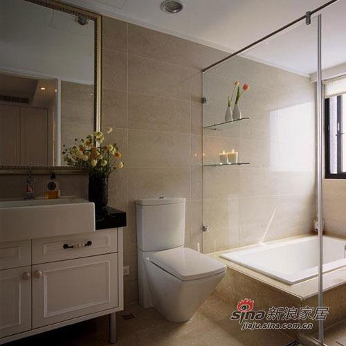 美式 三居 卫生间图片来自用户1907686233在10万打造120平米美式爱家70的分享