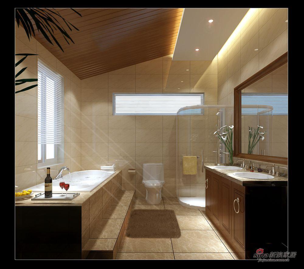 中式 别墅 卫生间图片来自用户1907662981在实景230平大气新中式别墅87的分享