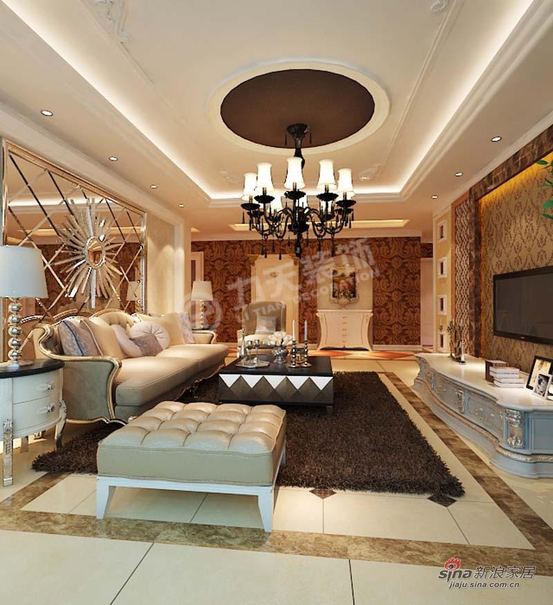 欧式 三居 客厅图片来自阳光力天装饰在金城嘉园-三室一厅两卫一厨-欧式风格64的分享