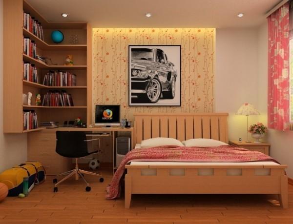 儿童房,如果是我床一定要上下铺,这样晚上孩子尿床直接爬上铺睡