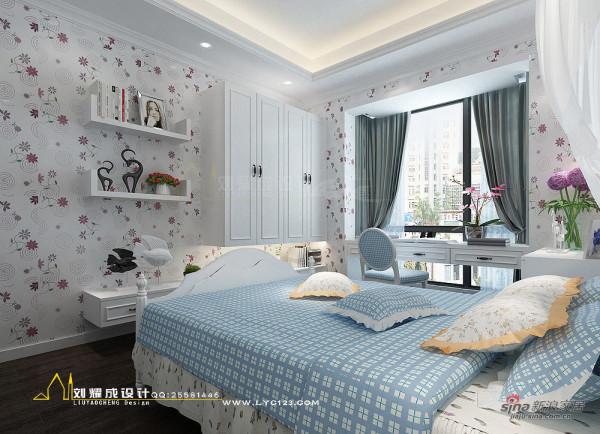 河南蓝湾新城复式楼女孩房衣柜设计