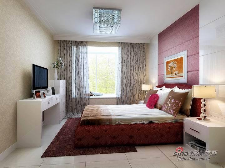 简约 三居 卧室图片来自用户2737950087在7.8W营造时尚前卫三居室83的分享