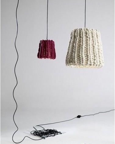 毛线编织的灯罩
