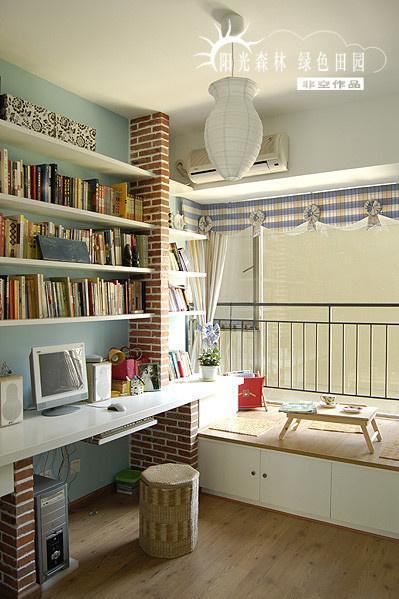 书房 阳台 卧室图片来自用户2771736967在最受欢迎实用范 10个书房收纳装饰兼备的分享
