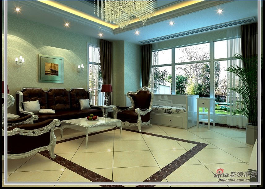 混搭 跃层 客厅图片来自用户1907689327在三层尊宅,三种享受78的分享