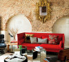 红色的沙发,另类的座椅