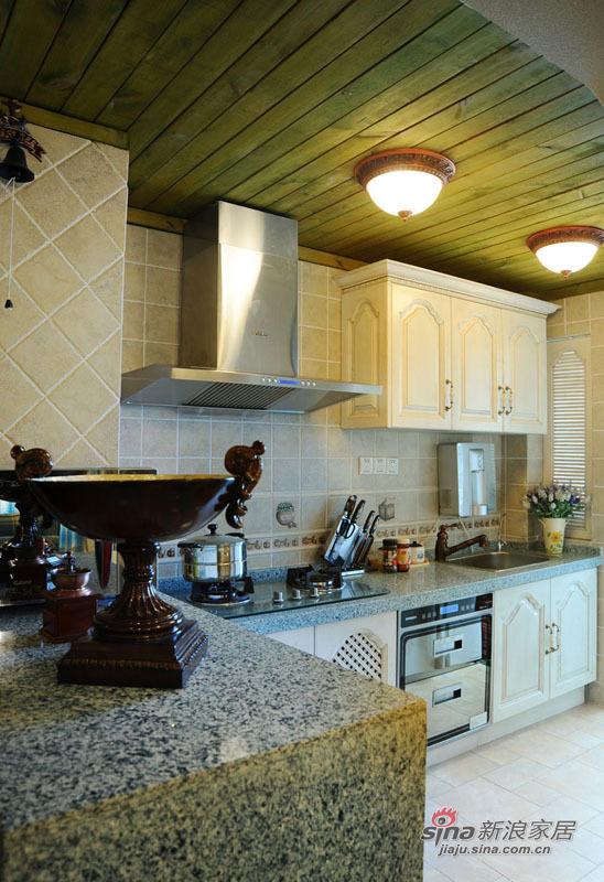地中海 复式 厨房图片来自佰辰生活装饰在99平唯美地中海清凉浪漫家44的分享