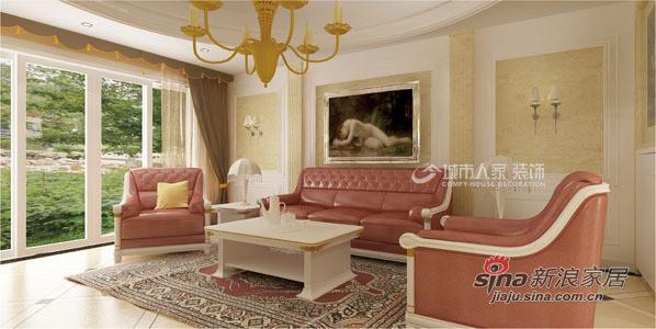 <新欧式沙发背景墙>