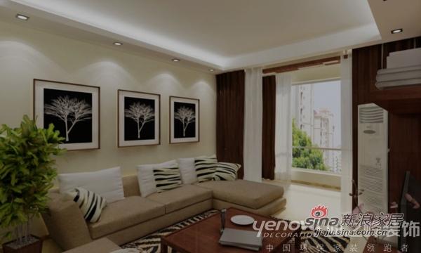 简约 二居 客厅图片来自用户2737950087在设计师打造金地叁拾峯 都市影像两居室44的分享