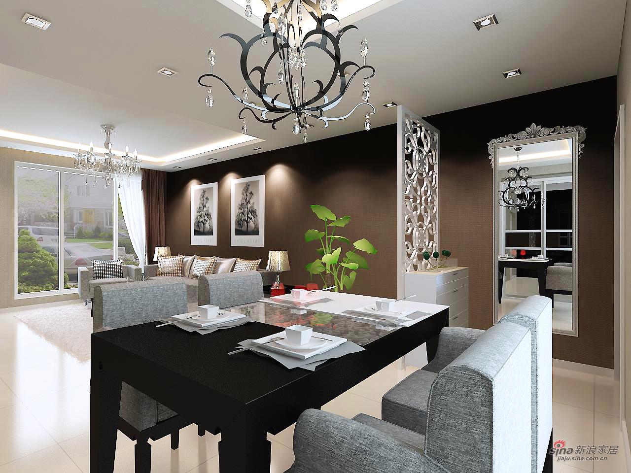 简约 三居 餐厅图片来自用户2737786973在金地铂锐高雅之局66的分享