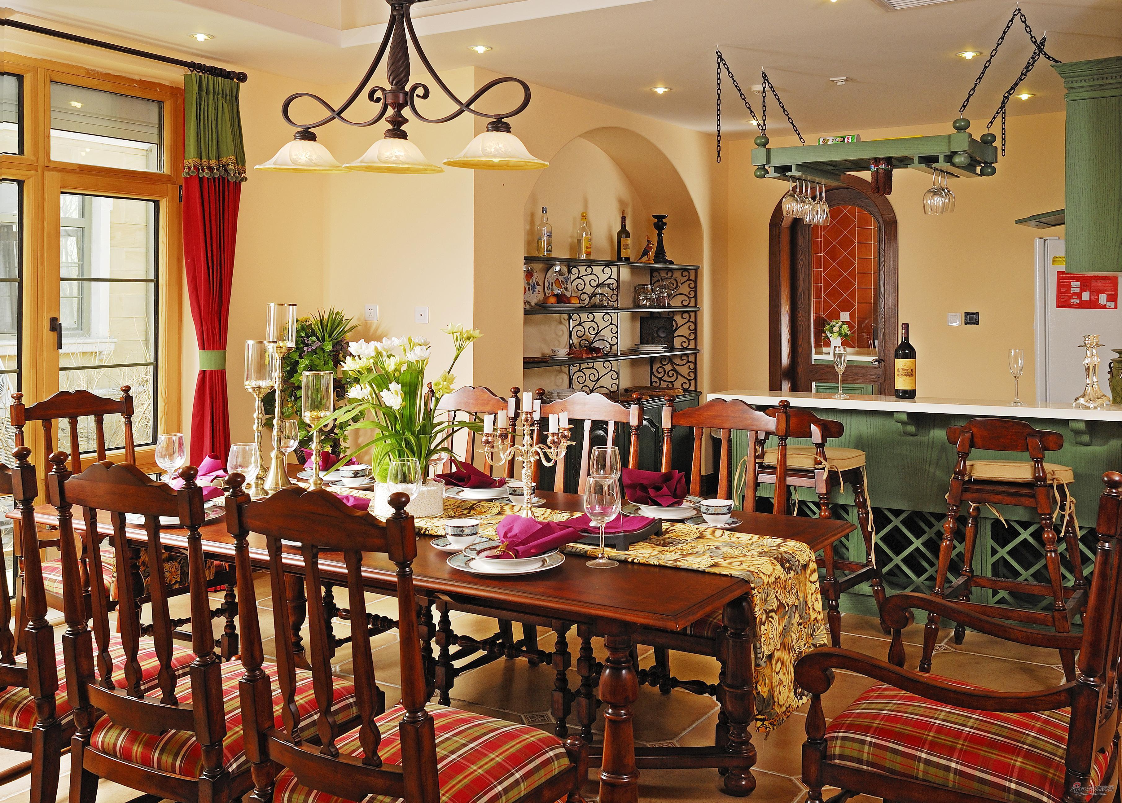 美式 别墅 餐厅图片来自用户1907685403在【高清】230平米美式风格联图片