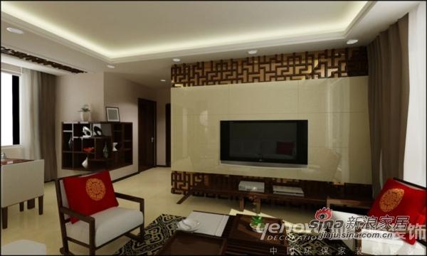 中式 三居 客厅图片来自用户1907696363在富力桃园 靓丽新中式小三居70的分享