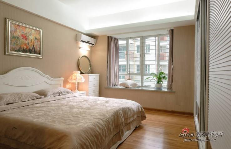 混搭 二居 卧室图片来自用户1907689327在小夫妻6万装82平混搭风时尚新房21的分享