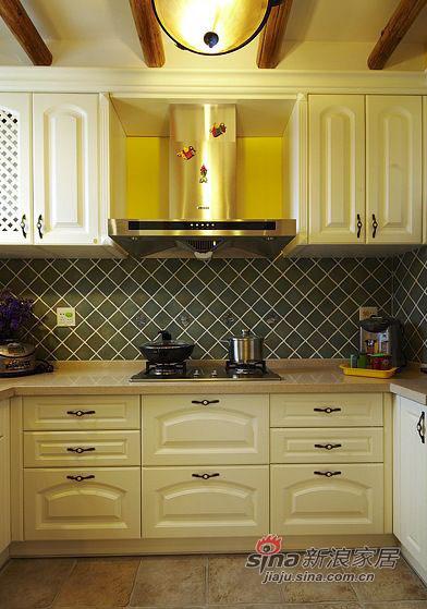 田园 二居 厨房图片来自佰辰生活装饰在90平复古风潮田园风格2居36的分享