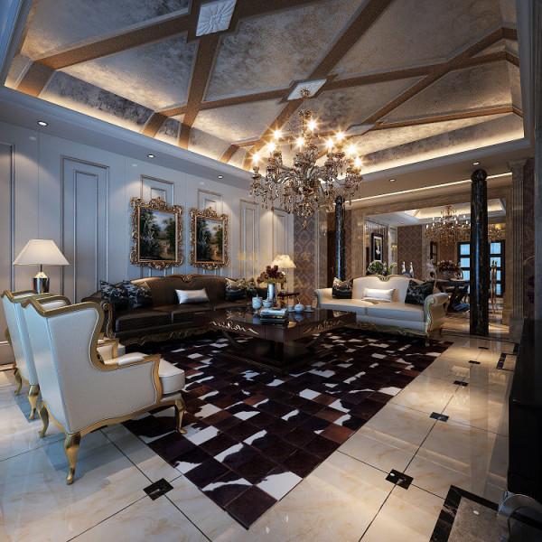客厅顶面及沙发背景