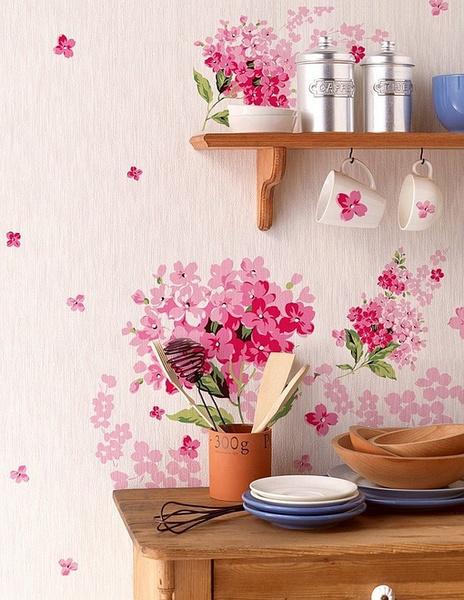 厨房 餐桌 清新 糖果色 碎花图片来自用户2771736967在简单而自然 17个北欧乡村风格厨房装修的分享